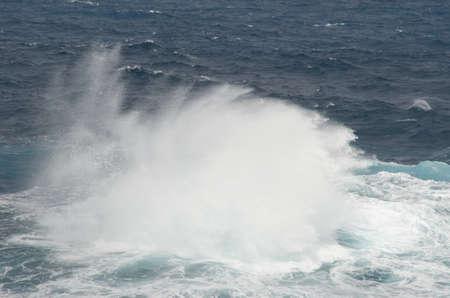 Wave breaking in the coast. Las Salinas. Arucas. Gran Canaria. Canary Islands. Spain.