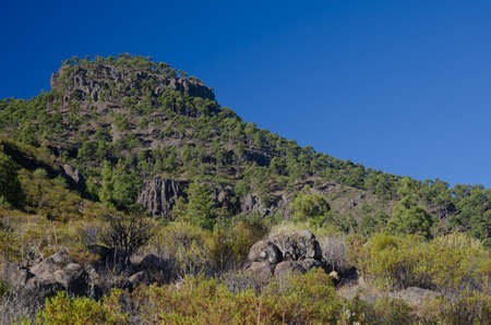 Los Hornos mountain. Natural Reserve of Inagua and The Nublo Rural Park. Aldea de San Nicolas de Tolentino. Gran Canaria. Canary Islands. Spain.