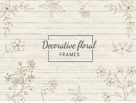 The lovely decorative floral designs where it will be a perfect and lovely design. Ilustracja