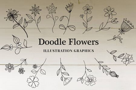The various design of doodle flowers where it will enhance your design quality