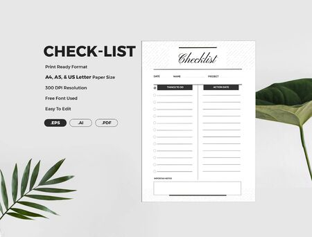 The beautiful check list template where you will have clear clarification before preparing
