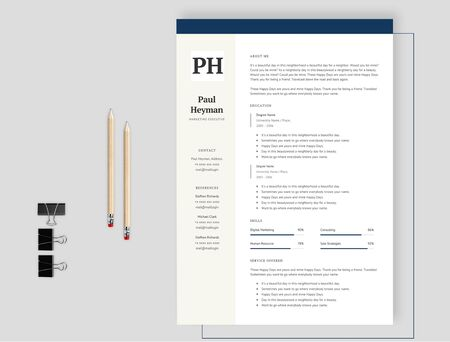 The effective resume where you can attract the interviewer the most Illustration