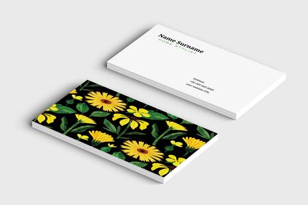 The ultimate and the beautiful royal business cards Ilustracja