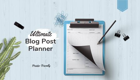 The exact and perfect planner for blog post where you can save and get all the details of the blog post