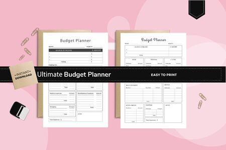 The exact and perfect planner for budget planning where you can save and get all the details of the budget Ilustrace