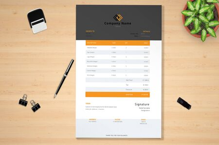 The perfect invoice banner for corporate business