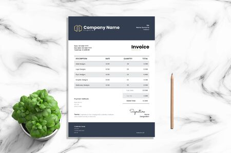 The perfect and exact invoice banner for a corporate Illustration