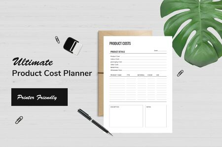 The perfect and exact planner for product work plan Ilustrace