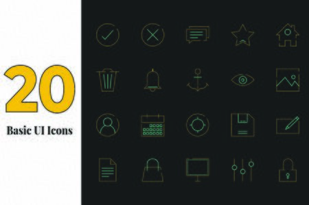 The beautiful and catchy 20 Sets of icon