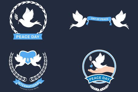 The beautiful and lovely peace day greeting elements