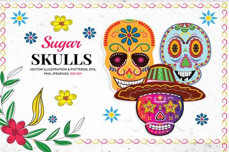 The beautiful skull shaped template for banners Ilustrace