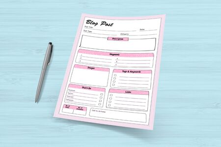 The exact and perfect planner for a blog shows blog post planner