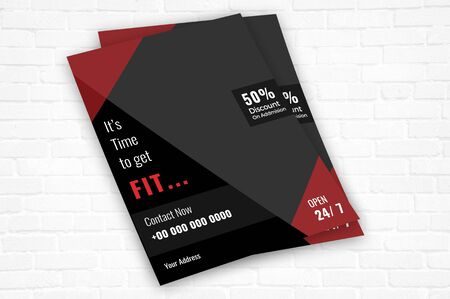 The beatutiful and lovely flyer for the Fitness center Ilustracja