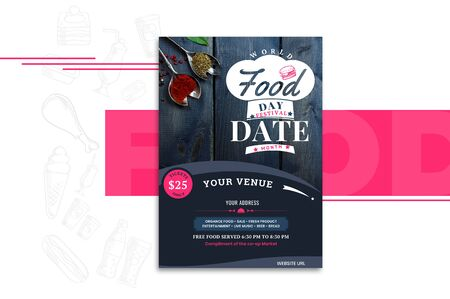 The beautiful and lovely banner for Food festival.