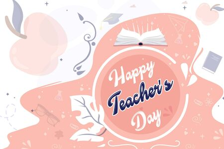 The perfect and beautiful background for World teachers day Ilustrace
