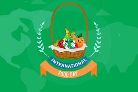 The beautiful and exact background and banner for world food day