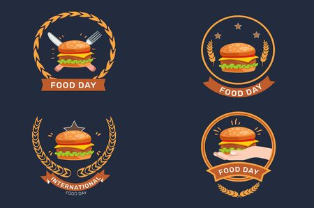 The beautiful and exact background, banner and elements for world food day