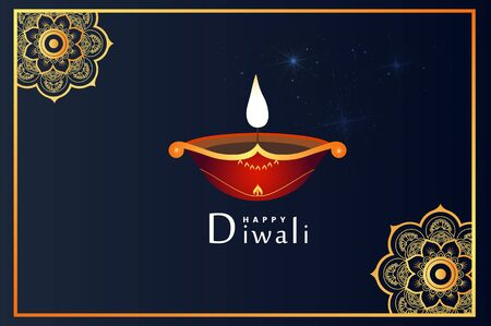 The lovely and exact banner, background and greeting for Diwali