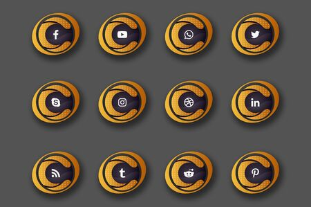 The beautiful and lovely sets of social media icons