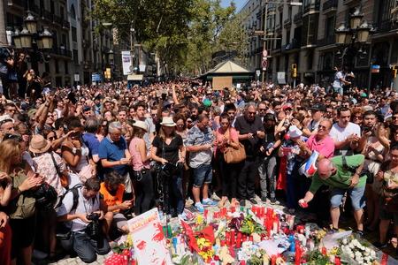 Demonstration Barcelona against terrorism