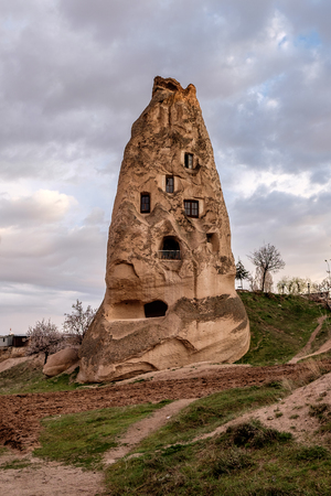 Amazing landscape of Cappadocia with caves and beautiful colours.
