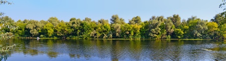 the dnieper: A late summer Dnieper branch panoramic view in Southern Ukraine