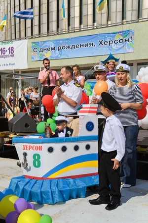 tots: scenes from tots parade-festival that took place in Ukrainian Kherson on Sunday September 17th as part of celebrating the Day of Town foundation Editorial
