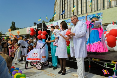 tot: scenes from tots parade-festival in Ukrainian Kherson on Sunday September 17th as part of celebrating the Day of Town foundation Editorial