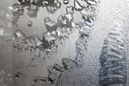 a frosted glass surface background taken  in cold winter weather from inside of building Stock Photo - 12433014