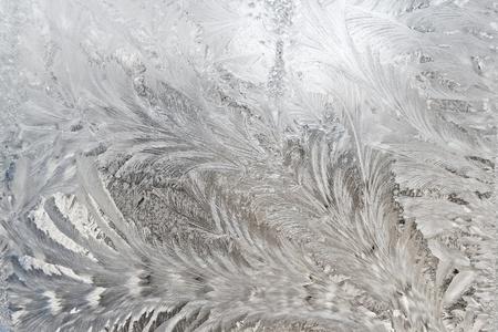 un fond sablé surface de verre prises par temps froid de l'hiver à l'intérieur du bâtiment Banque d'images