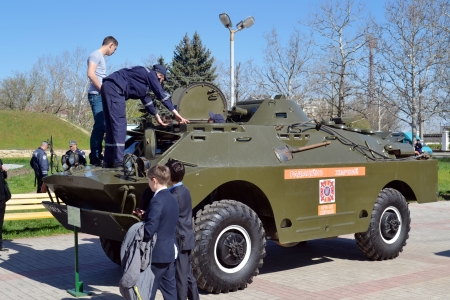 counter terrorism: KHERSON, UKRAINE - APRIL 22, 2013: anti-terrorist special units show their skills at the show on April 22, 2013 in Kherson. Ukrainian special units actively participate in UN peacekeeping operations. Editorial