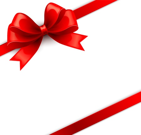 Gift red bow Illustration