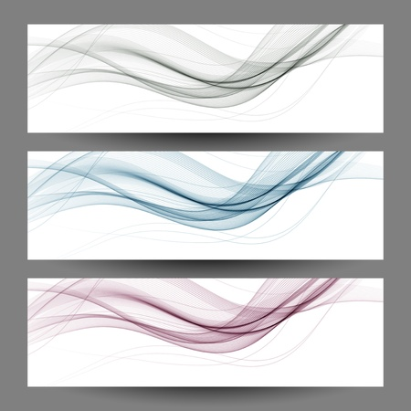 Abstract  wave design element Vector