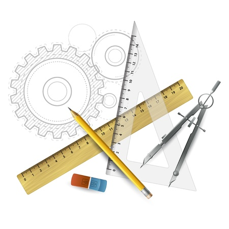 Drawing tools  Vector illustration