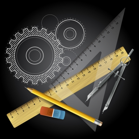 Drawing tools  Vector illustration Vector