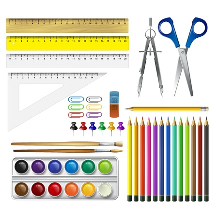 School supplies  Vector illustration Illustration
