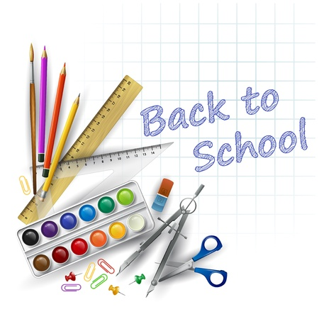 School supplies  Vector illustration Vector