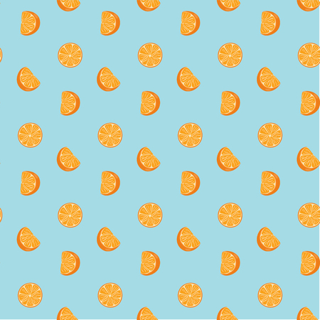 Hand drawn fresh oranges seamless pattern. Doodle wallpaper vector. Fresh fruits collection. Vector illustration.
