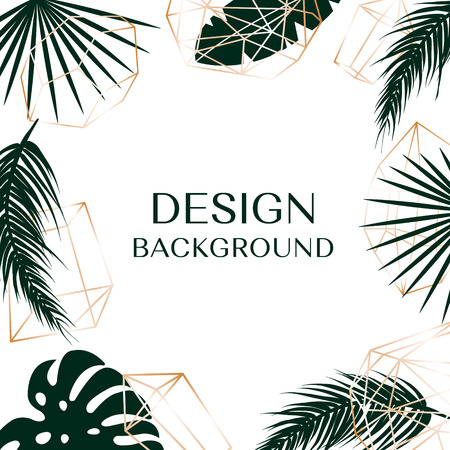Tropical background with free space for text