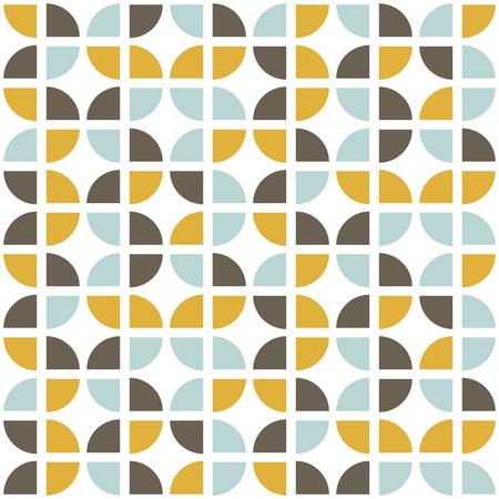 Retro naadloos patroon. Moderne stijl uit het midden van de eeuw. Abstracte herhalende achtergrond voor web of afdrukken. Geometrisch vectorbehang.