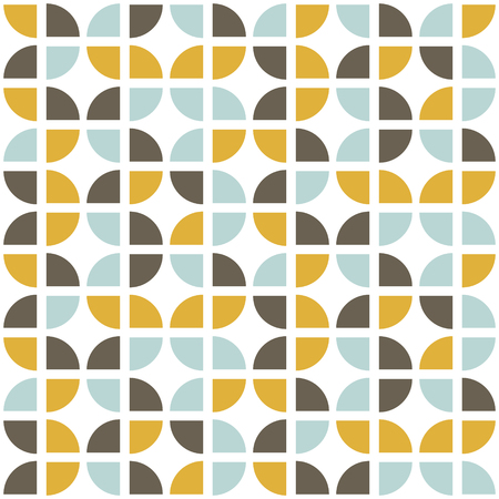 Retro seamless pattern. Mid-century modern style. Abstract repeating background for web or printing. Geometric vector wallpaper.