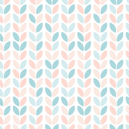 Scandinavian style floral seamless pattern. Abstract geometric leaves in pastel colors. Vector wallpaper. Vektoros illusztráció