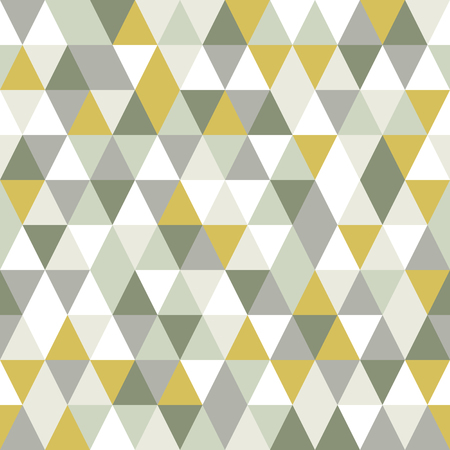 Modern triangle seamless pattern. Vector abstract background. Vettoriali