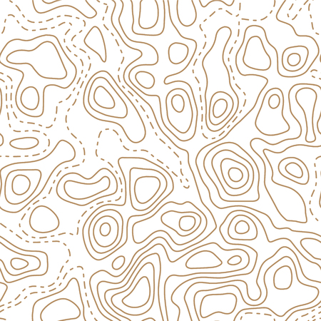 Topographic map seamless pattern. Abstract wavy lines. Vector print. Ilustração