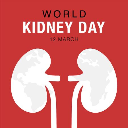 World Kidney Day, concept healthcare banner. Abstract kidney illustration. Stock vector design. Illustration