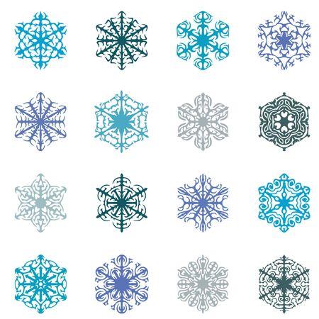 白地にブルーな雪