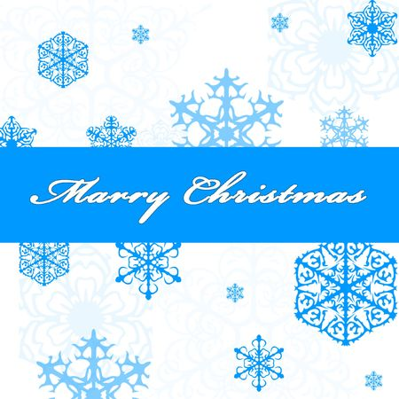 Blue Christmas, New Year background with snowflakes Stock Photo