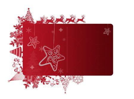 白い背景上のテキスト領域と赤のクリスマス フレーム