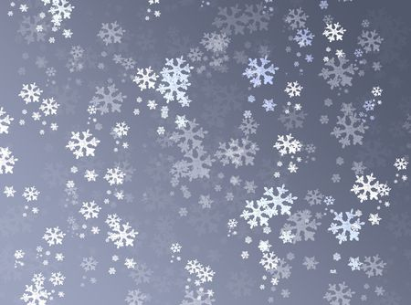Silver winter background with snowflakes Stock Photo - 8094057