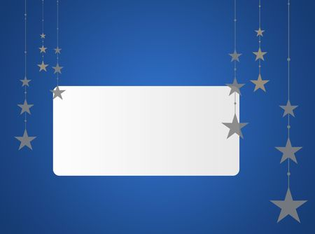 text area: Blue Christmas background with white text area